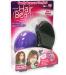 Plastic bean shaped hair brush purple color