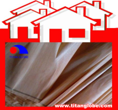 Rotary-Cut Red Hardwood Veneer 0.3mm-0.8mm For Plywood Face And Back - Titan Globe