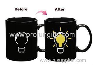 Promotional Customized Heat Sensitive Color Changing Mugs