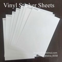 Factory Price A4 Size Eggshell Paper For Sale Matte White Destructible Vinyl Eggshell Sticker Sheets Raw Material
