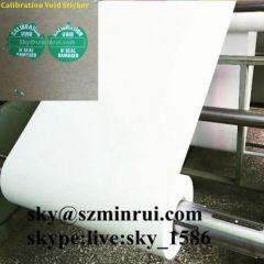 destructive label material roll/destructive label/destructive label with strong adhesive