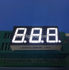 Ultra White triple digit 14.2mm common anode 7 segment led display for Instrument Panel