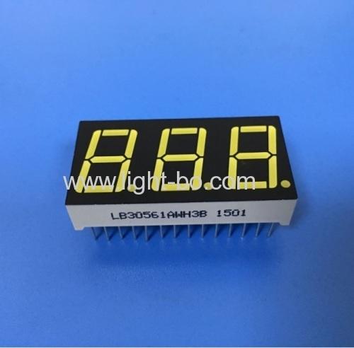 Ultra White triple digit 14.2mm common anode 7 segment led display for Instrument Panel