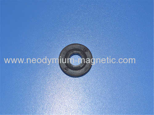 PA12 PPS Injected plastic ferrite magnet with ring shape