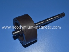 PA12 PA6 ring plastic injection ferrite rotor with shaft of 8 poles