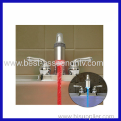 Glow LED Faucet Shower Light Temperature Sensor Red & Blue