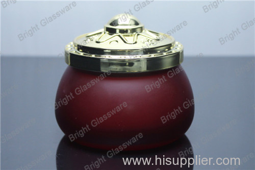 Fashion promote glass jar with lid for wholesale