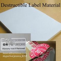 Custom Fragile Paper Printing Security Sticker Tamper Evident Ultra Destructible Label Paper Materials