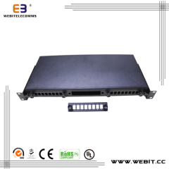 New design 24 port blank fiber patch panel