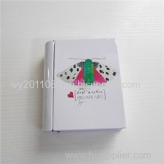 Mini Book Shape Tin Box
