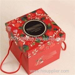 New Year Paper Candle Box