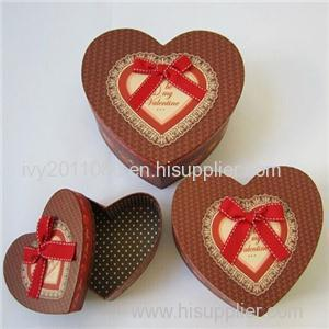 Heart Shaped Paper Present Box