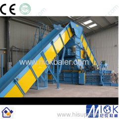 Conveyor feeding system horizontal baler Machine