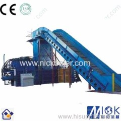Cardboard recycling baling press