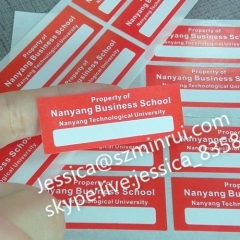 Custom Self Adhesive Private Fragile Paper Label Anti-fake Tamper Evident Brittle Security Seal Sticker