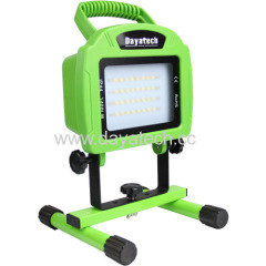 Dayatech 20W LED Portable Cordless Rechargeable Work Light 40 LED 1600/ 800 lms High& Low& SOS 3 Light Modes