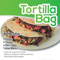 Microwave Oven Red Tortilla Maker Bag For Pizza Tacos Pan Cake Tortilla Bag