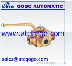 hydraulic 3 ways ball valve hand valve
