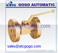 flange type high pressure ball valve