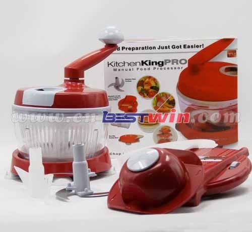 King Mini Kitchen: Multifunction Kitchen Slicer Food Chopper Manual Food