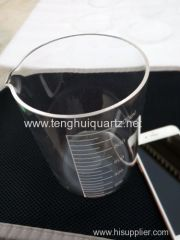 High temperature quartz beaker
