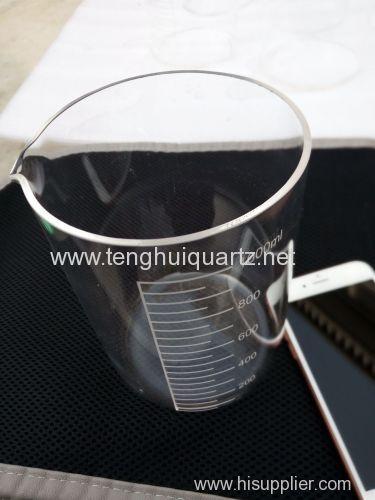 High temperature quartz beaker