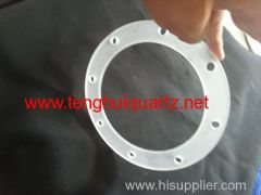 Opaque quartz flange 11
