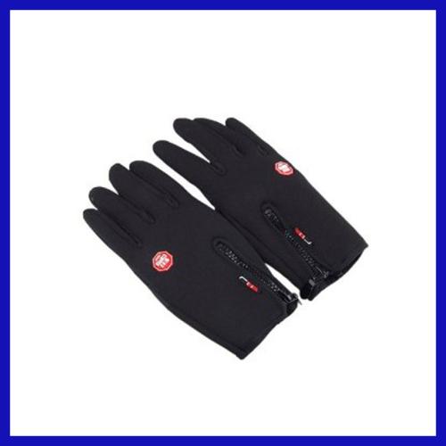 Full Fingers Anti-Slip Water Resistant Wind-Proof Hands Warmer Gloves- Black