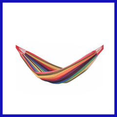 Tundra thickening stripe canvas single hammock indoor and outdoor swing