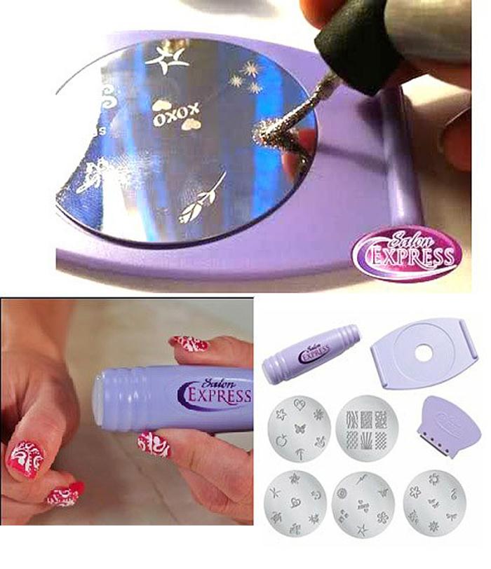 Salon Express Nail Art Stamp Stamping Kit Manicure Design Polish As ...