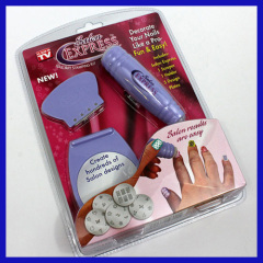 Salon Express Nail Art Stamp Stamping Kit Manicure Design Polish As Seen On TV
