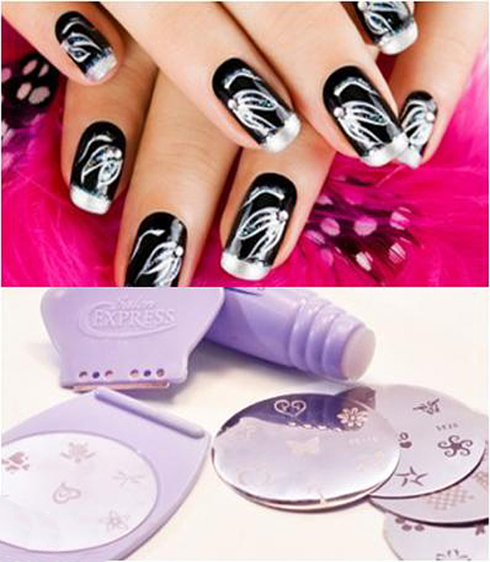 Salon Express/Nail Art Stamp Stamping Kit Manicure Design Polish As ...