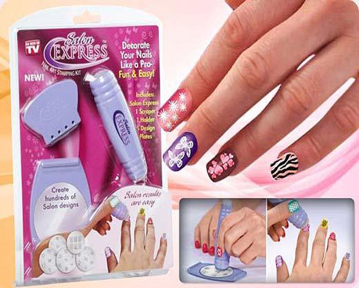 Salon Express/Nail Art Stamp Stamping Kit Manicure Design Polish As ...