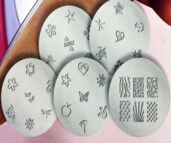 Salon Expressnail Art Stamp Stamping Kit Manicure Design Polish As