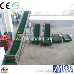 Waste Paper baler machine with Large Capacity Portable Belt Conveyor