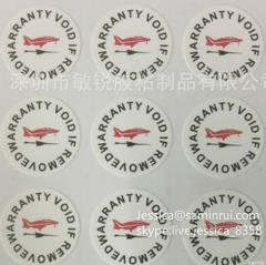 High Quality Custom Fragile Adhesive Paper Label Breakable One Time Use Warranty Void If Removed Sticker