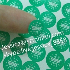 Best Selling Self Adhesive Security Seal Label Destructible Vinyl Tamper Evident Non Removable Stickers
