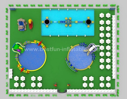 Kids and Adults Big Customized Water Playground