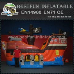Mega inflatable pirate ship slide