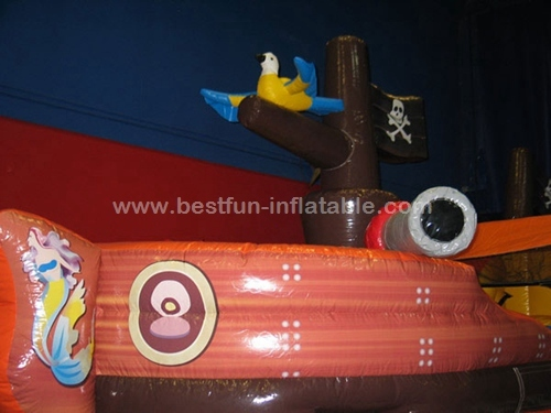 Adventure Galley Pirate Ship Inflatable Slide