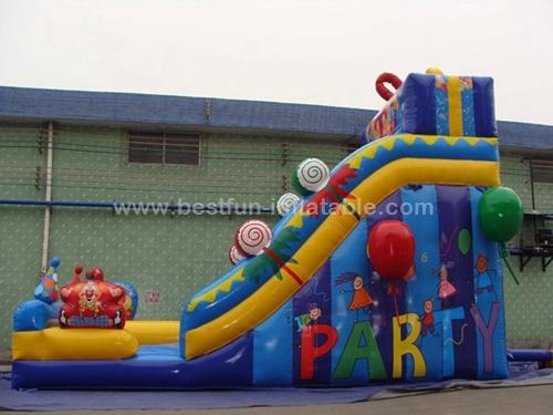 Candy park inflatable snow slide toboggan slide