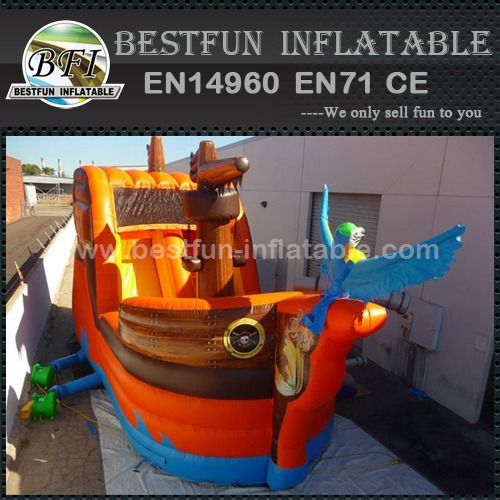 Inflatable pirate ship slide for adventure trip