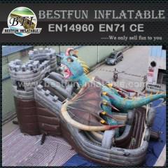 Dinosaur largest inflatable slide