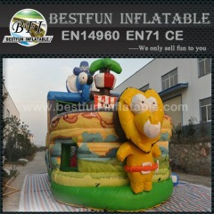 Pirate Ship Inflatable Elephant slide