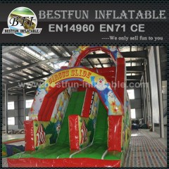 Inflatable circus clown slide