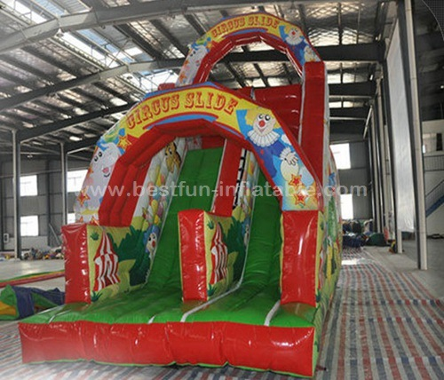 Inflatable circus clown theme dry slide