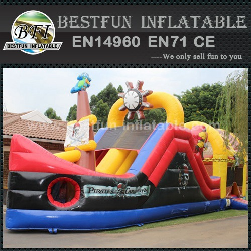 Custom made inflatable pirate slide