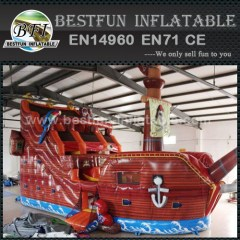 Amusement park pirate ship inflatable slides