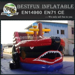 Children inflatable obstacle dry slide