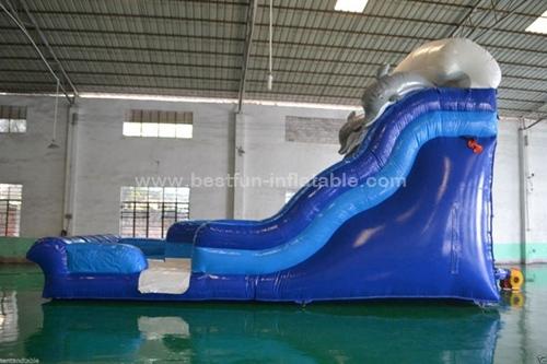 Monster Curvy Wave Inflatable slide